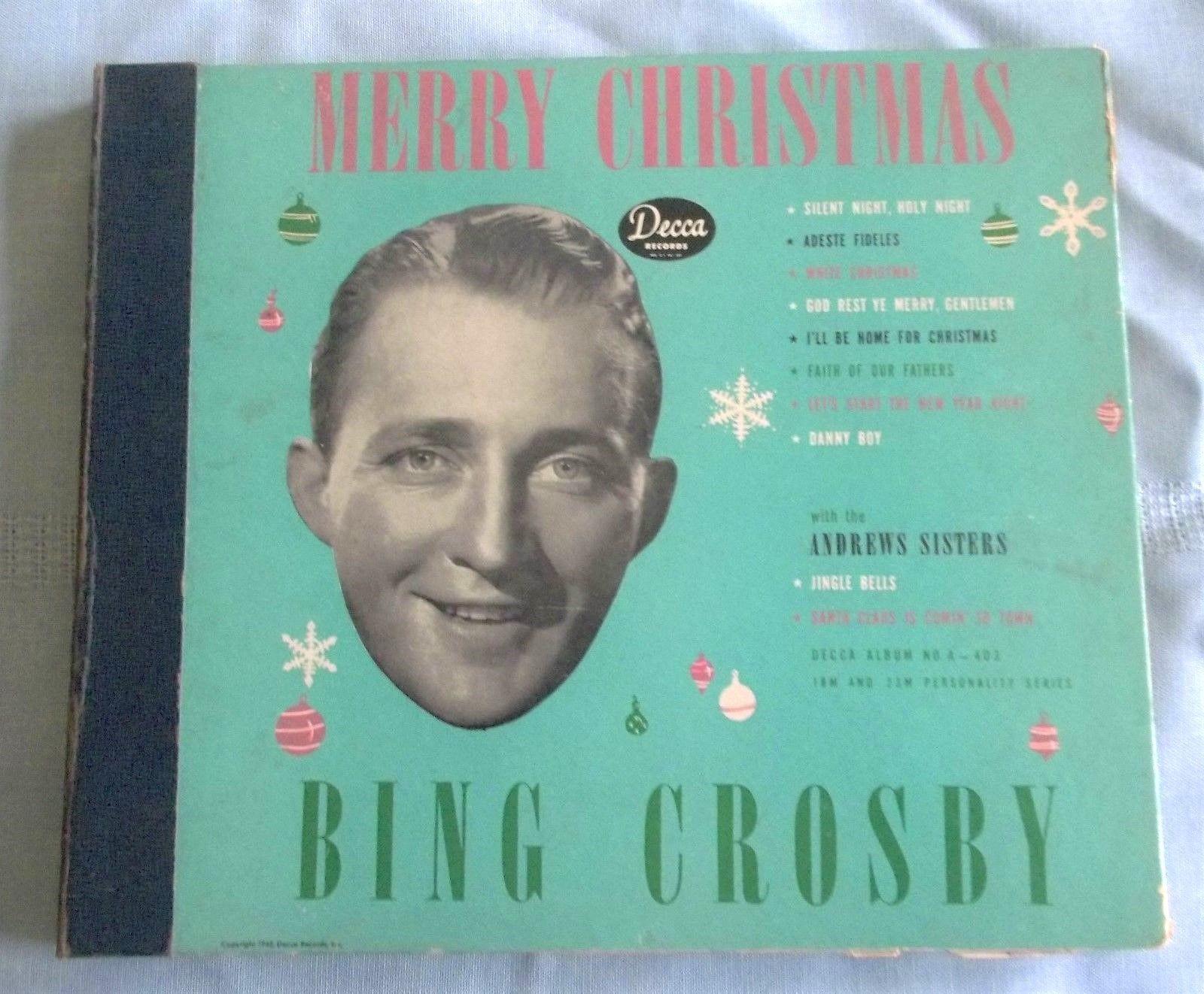 popsike.com - Decca Records 78 rpm BING CROSBY Merry Christmas Album Set Incl. White Christmas ...