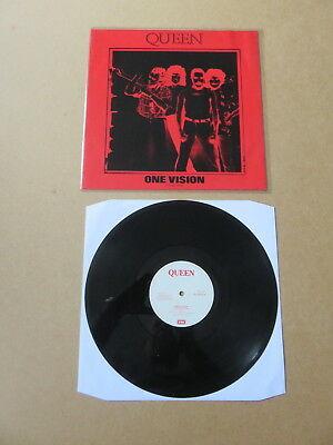 "QUEEN One Vision RARE 1991 ORIGINAL NEGATIVE PVC SLEEVE UK 12"" PRESSING 12QUEEN6"