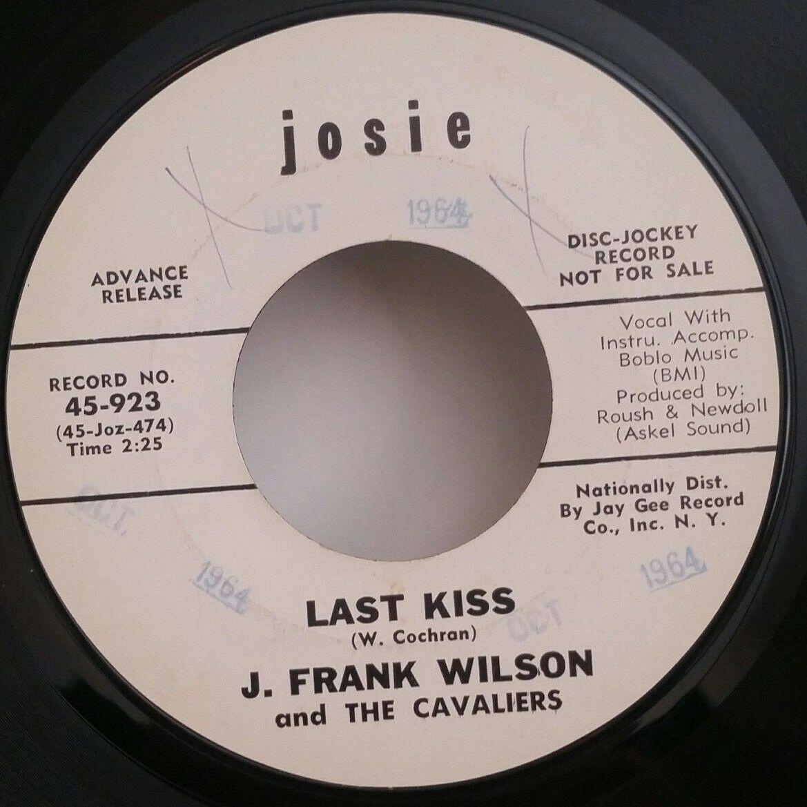 J. Frank Wilson & Cavaliers Josie 923 LAST KISS (RARE)45 SHIPS FREE / MAKE OFFER