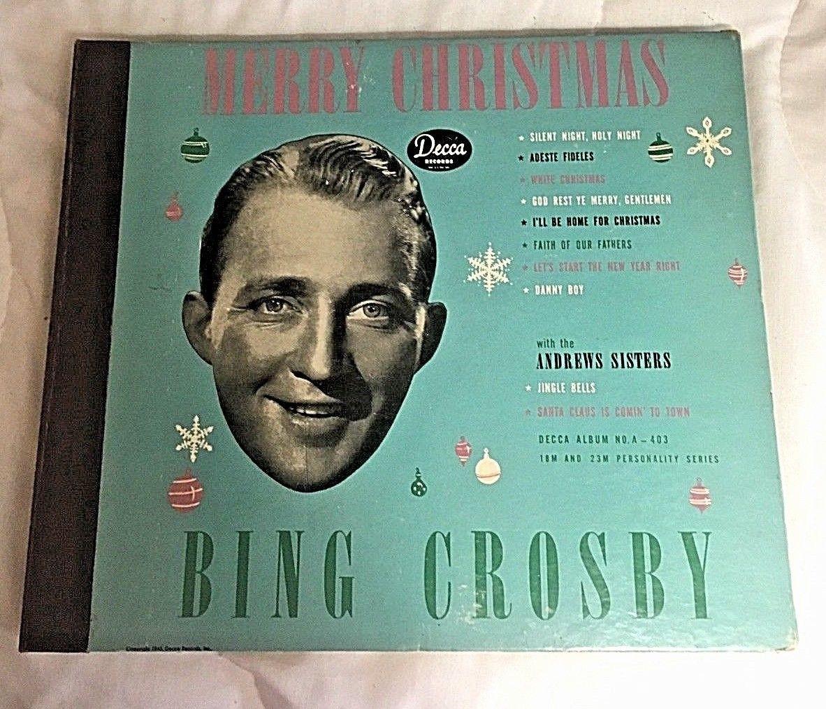 popsike com - 78 rpm Bing Crosby Merry Christmas Decca album
