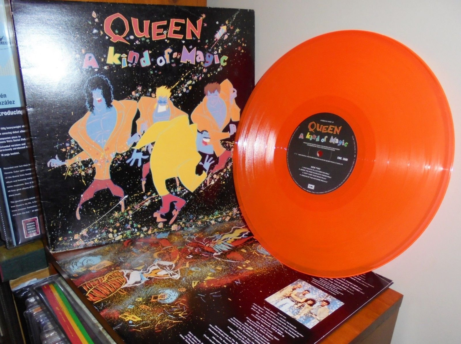 Queen A Kind of magic Orange Vinyl NZ  +  Radio Station Promo LP