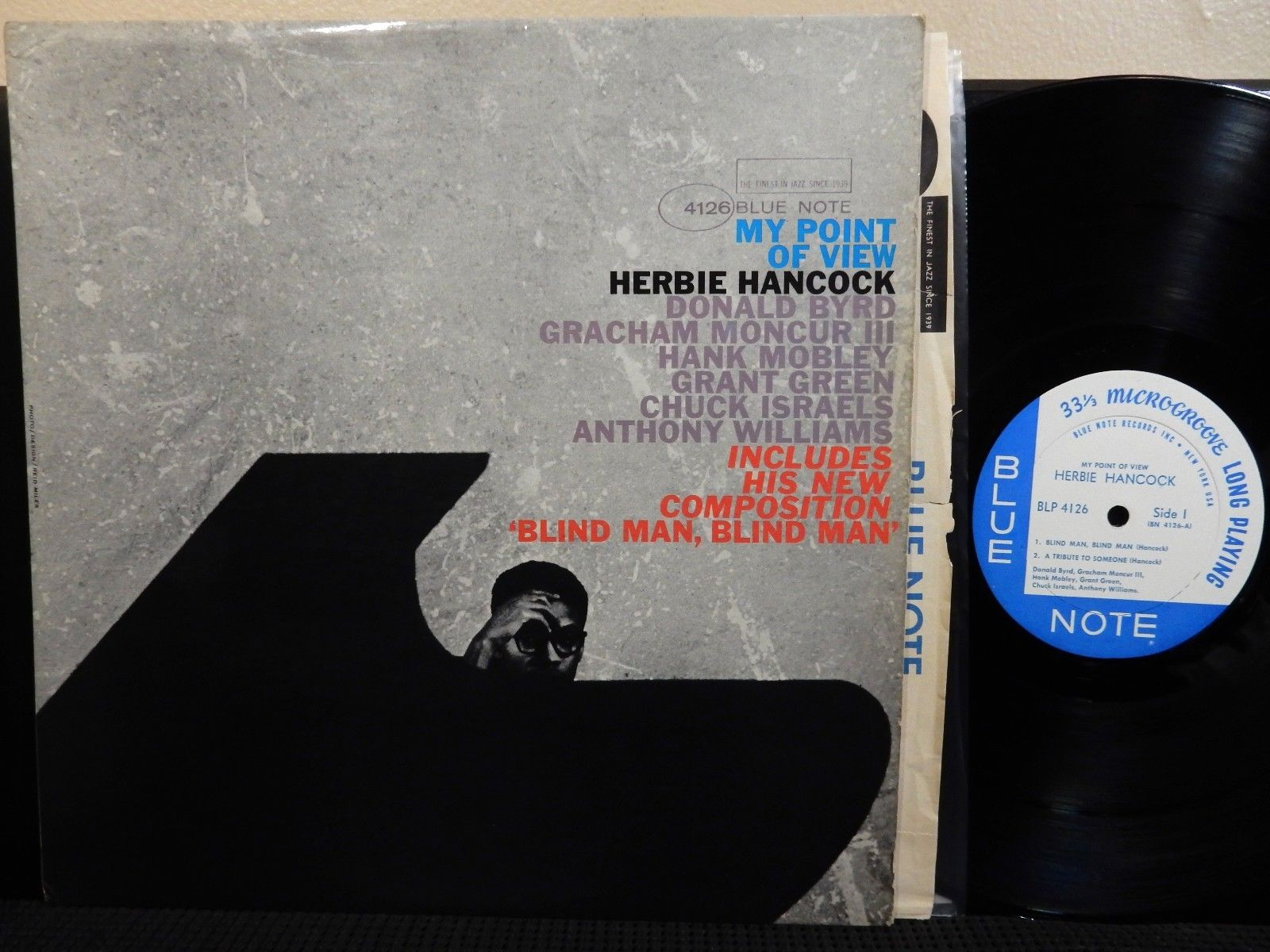 HERBIE HANCOCK MY POINT OF VIEW LP BLUE NOTE 4126 MONO NY EAR Byrd Mobley Green