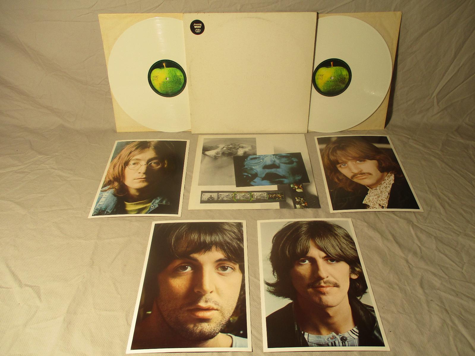 1985 THE BEATLES White Album/White NM Vinyl Germany GEMA DMM Hype Poster/Photos