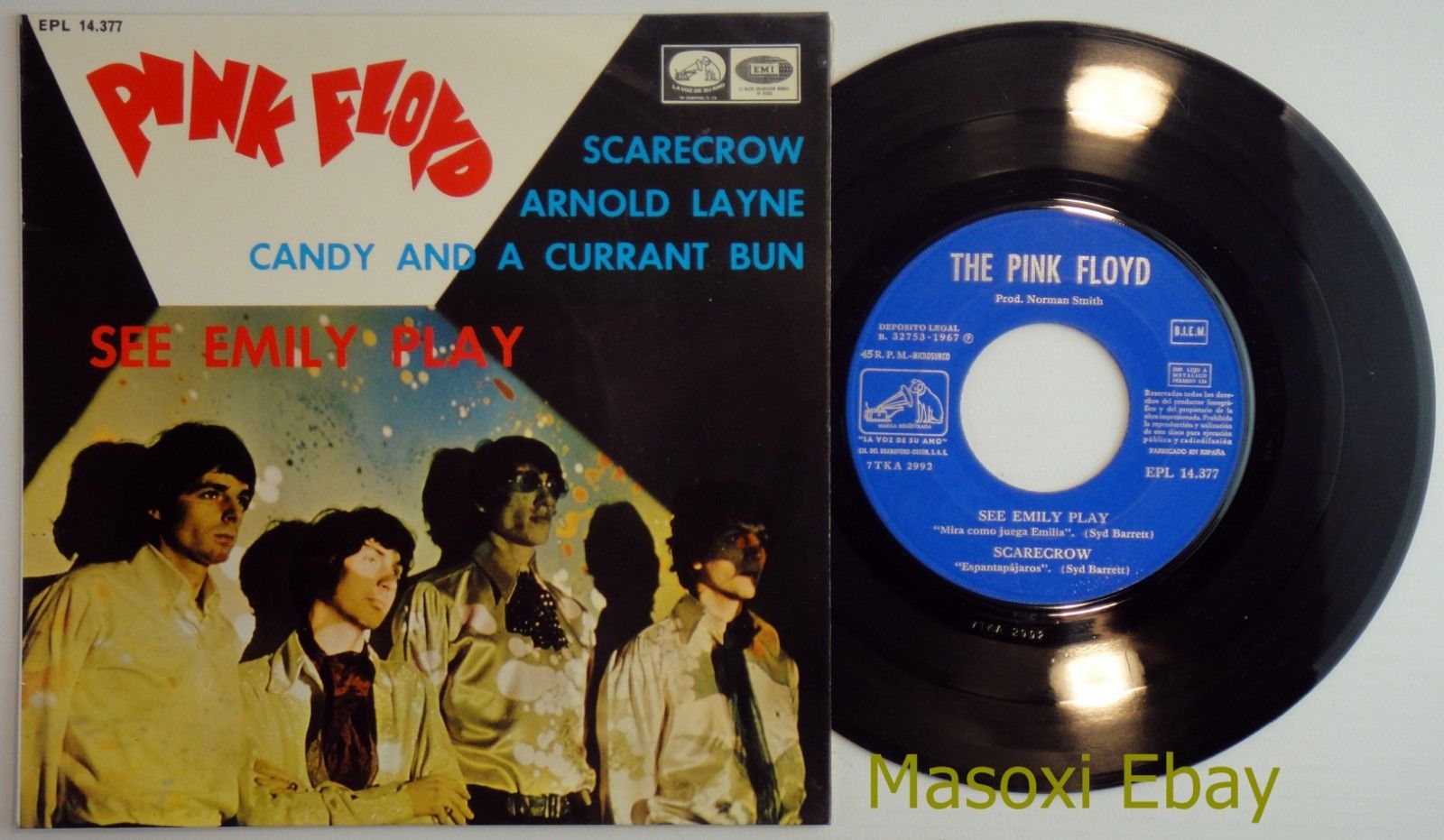 PINK FLOYD ?– See Emily Play +3 • EP Spain 1967 – MINT* • Orig 1sT LAMINATED COV