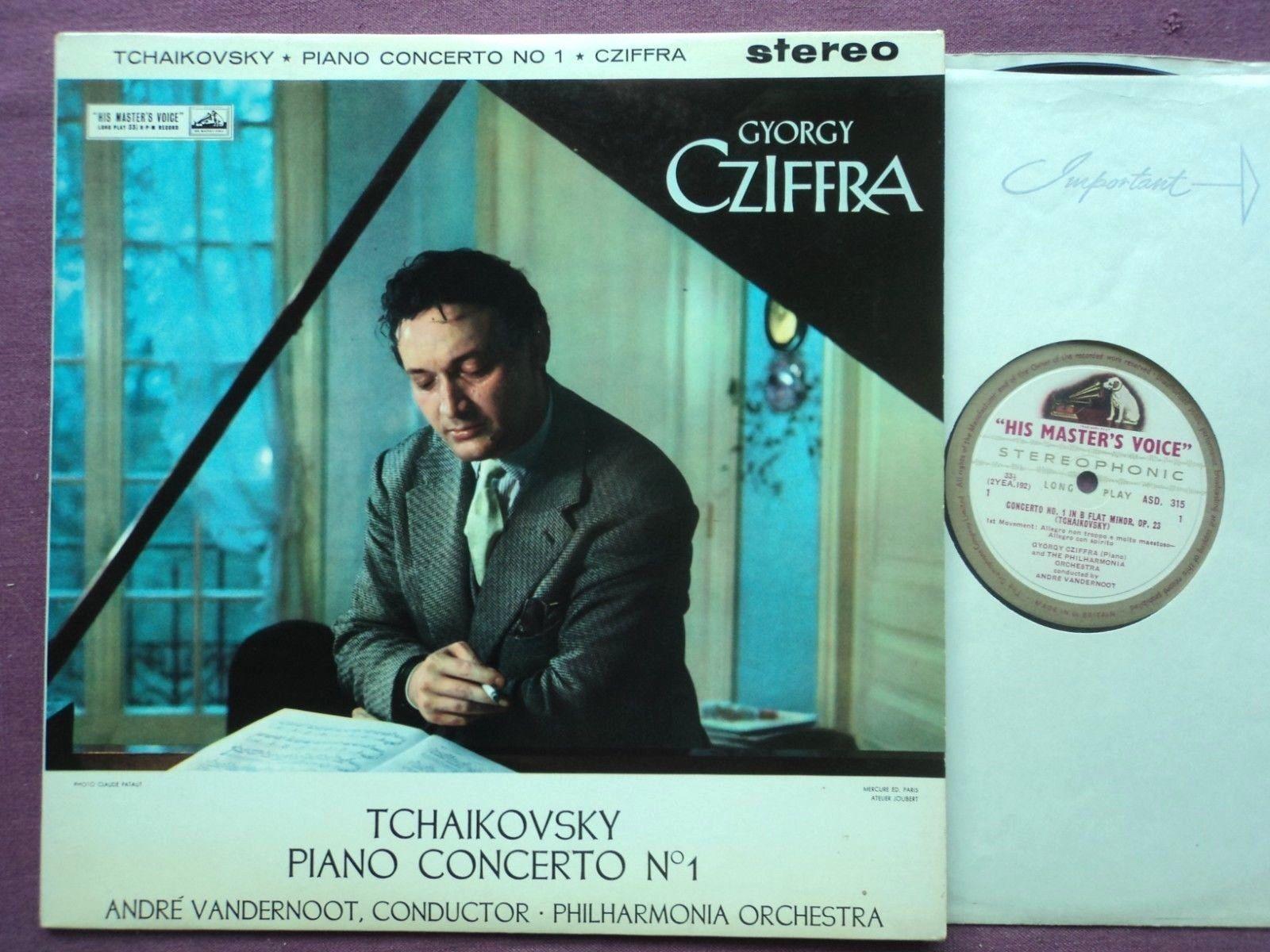 ASD 315 w/g, UK orig. TCHAIKOVSKY: Piano Concerto CZIFFRA, VANDERNOOT, PO, NM