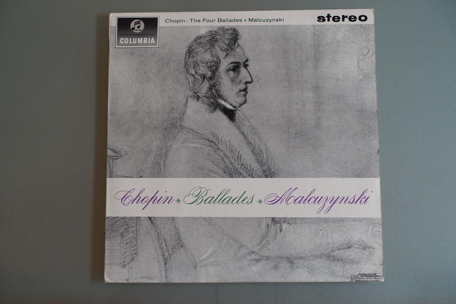 RARE SAX 2509 CHOPIN BALLADES MALCUZYNSKI  N.MINT  The Four Ballades  Columbia