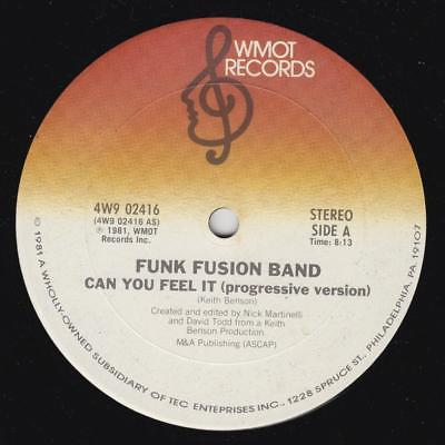 Funk Fusion Band ?– Can You Feel It Rare 1981 Orig *Killer Boogie*