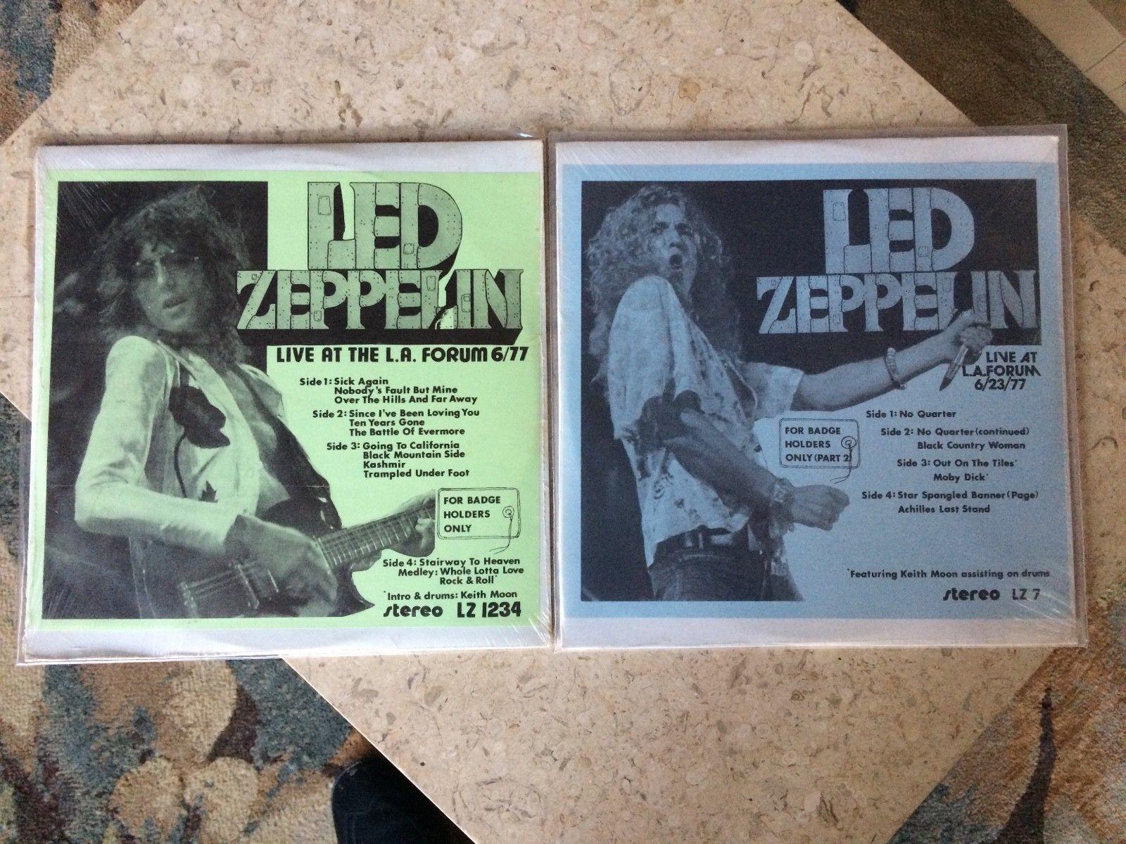 STILL SEALED Led Zeppelin For Badge Holders Only parts 1 & 2