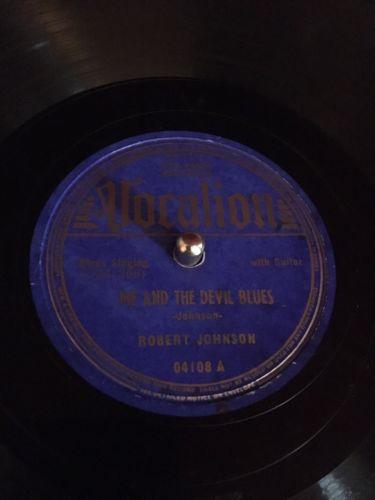 "78 RPM -- Robert Johnson, Vocalion 04108 ""Me And The Devil"", E-/E-V+ Blues"