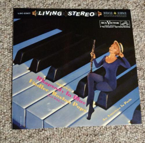 Gershwin Rhapsody In Blue Boston Pops An American In Paris Vinyl LP