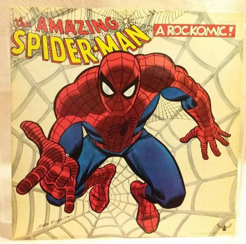 """The Amazing Spiderman"" A Rockcomic by Buddah Records Art John Romita 1971 RARE"