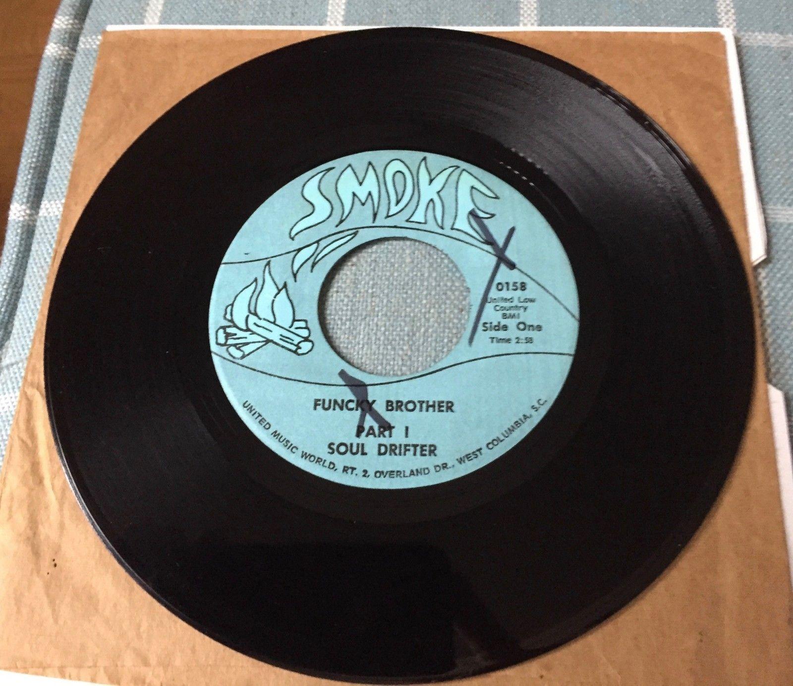Very Rare Funk, 7'' Vinyl Original. SOUL DRIFTER, FUNCKY BROTHER Parts 1 & 2.