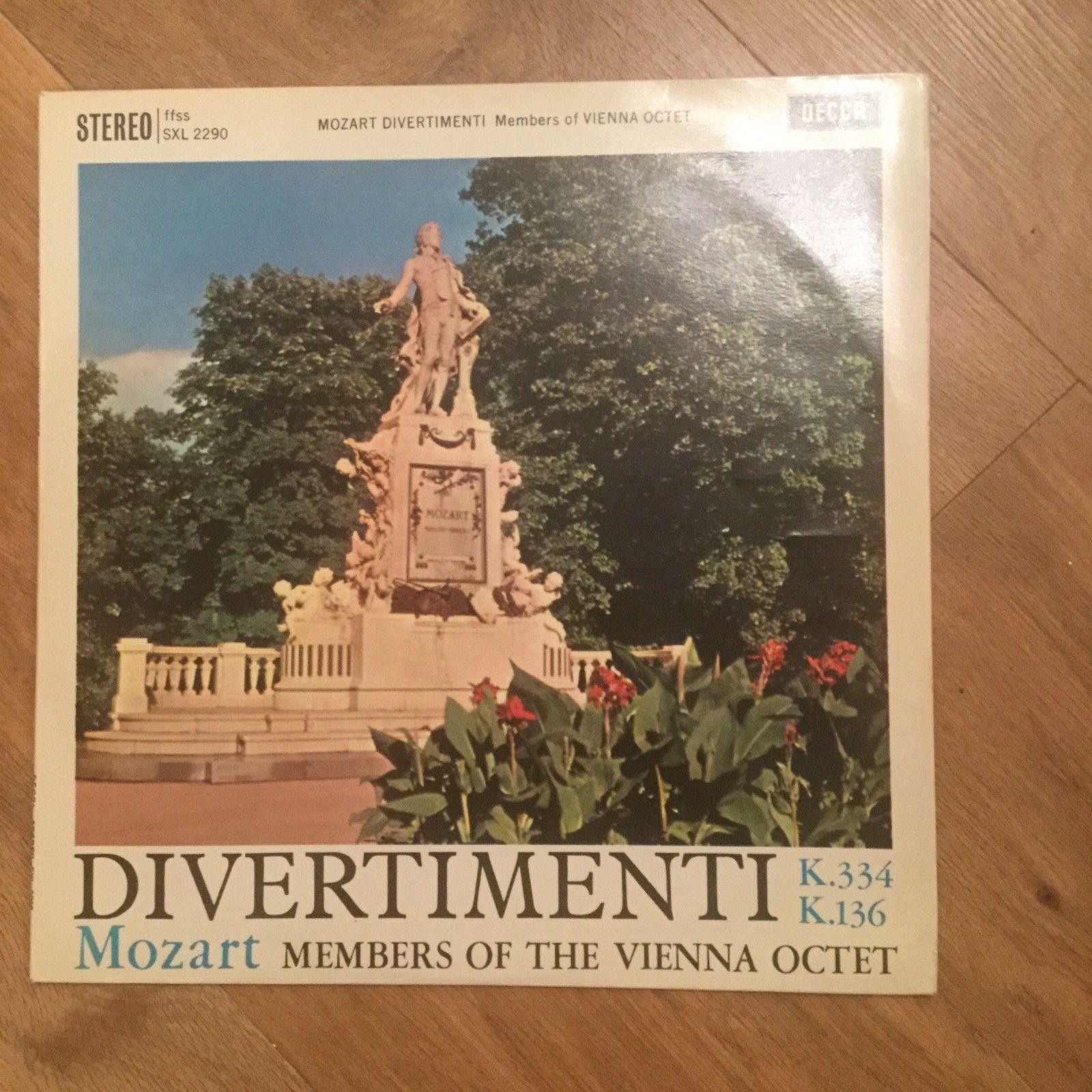 DECCA SXL 2290 WBG ED1 VINYL LP  MOZART DIVERTIMENTI VIENNA OCTET