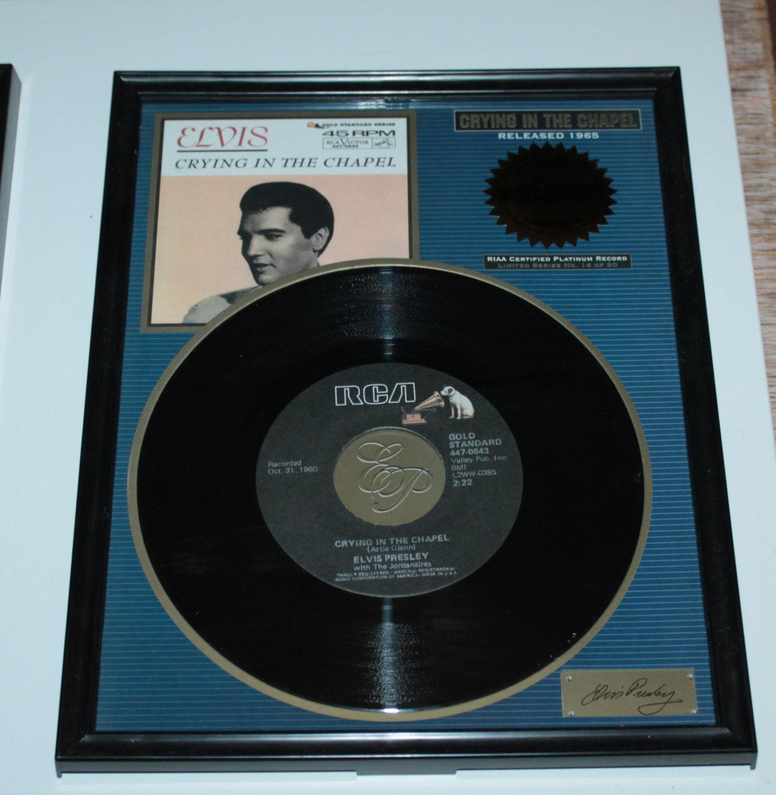 Elvis Presley - Crying In The Chapel, RIAA Certified Platinum Record, Vinyl