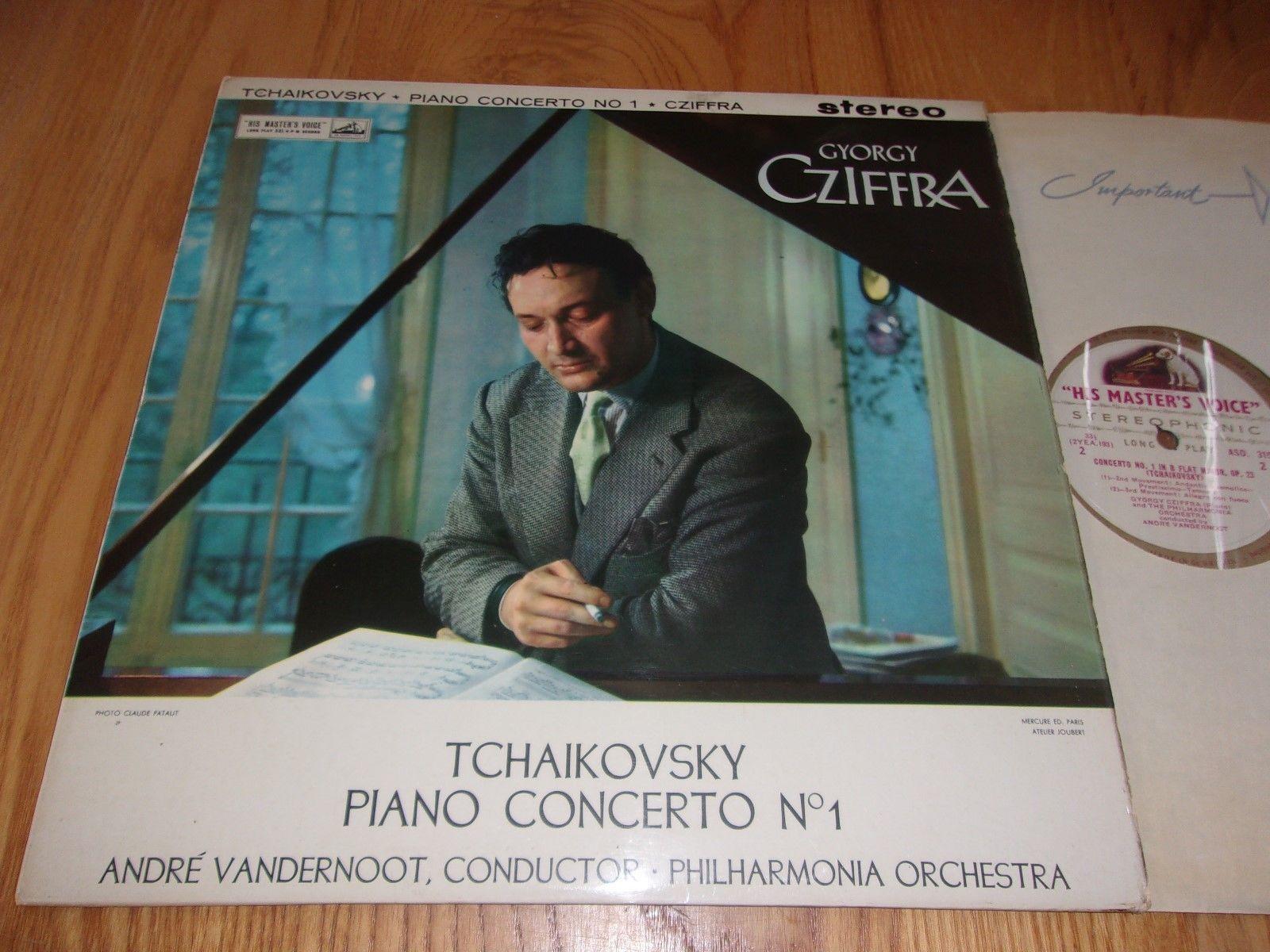 HMV ASD 315 UK 1st C/G TCHAIKOVSKY - PIANO CONCERTO NO 1 *GYORGY CZIFFRA* EX