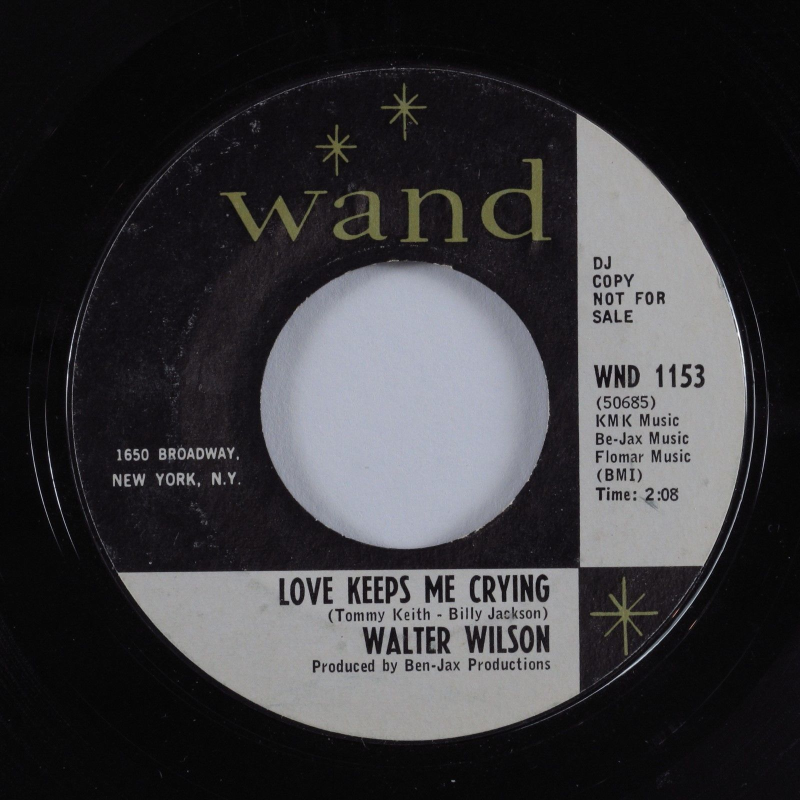 Northern Soul 45 WALTER WILSON Love Keeps Me Crying WAND promo HEAR