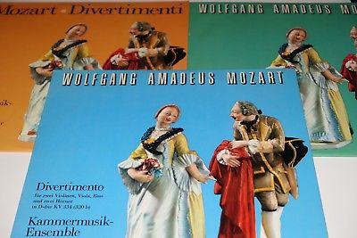 MOZART: DIVERTIMENTI – NYFFENEGGER – LAUER – SWISS MADE EX LIBRIS 3 LPs