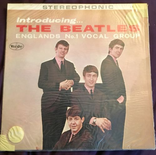 "*NEAR MINT*RARE*Beatles ""Introducing the Beatles"" VJ STEREO AD BACK  Version 1"