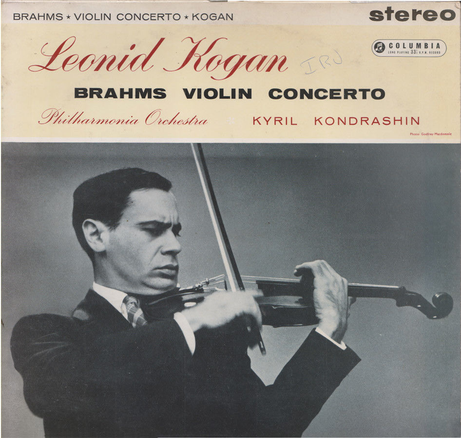 Leonid Kogan Brahms Violin Concerto Columbia UK LP