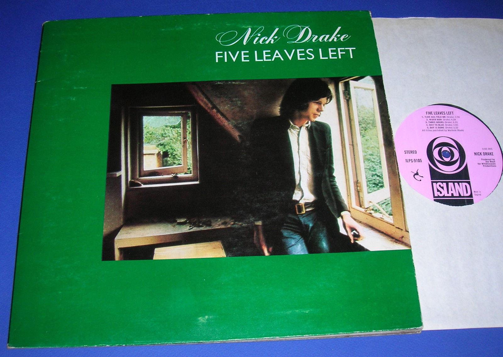 NICK DRAKE LP FIVE LEAVES LEFT 1st UK 1969 Black Block Island  ILPS 9105 NM