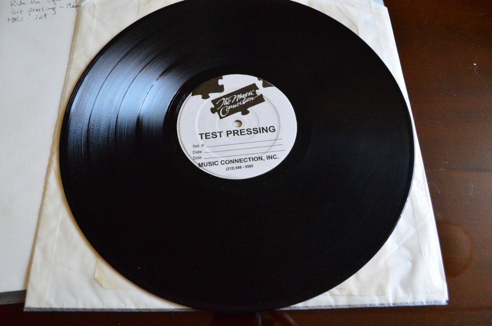 Metallica ride the lightning LP 1984 Test pressing megaforce slayer sodom