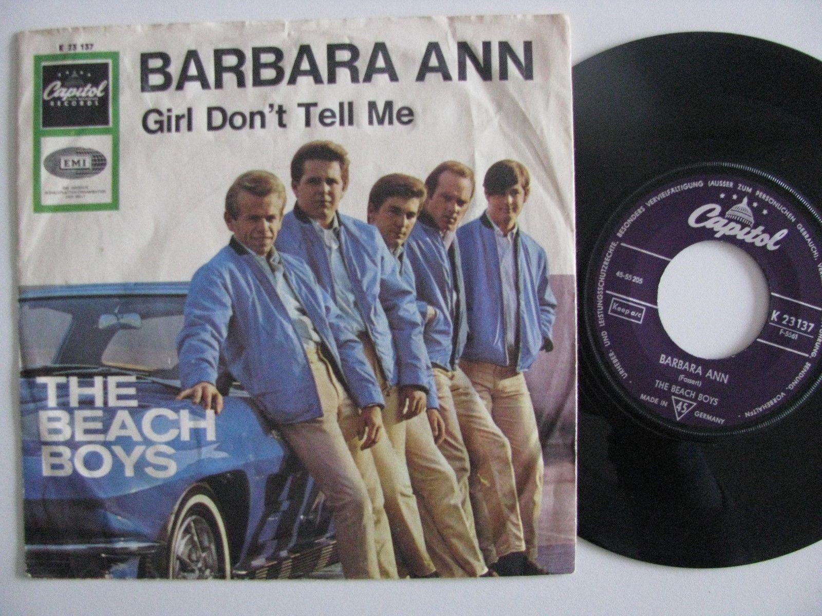 """The Beach Boys 7""""  Car Cover Barbara Ann"""