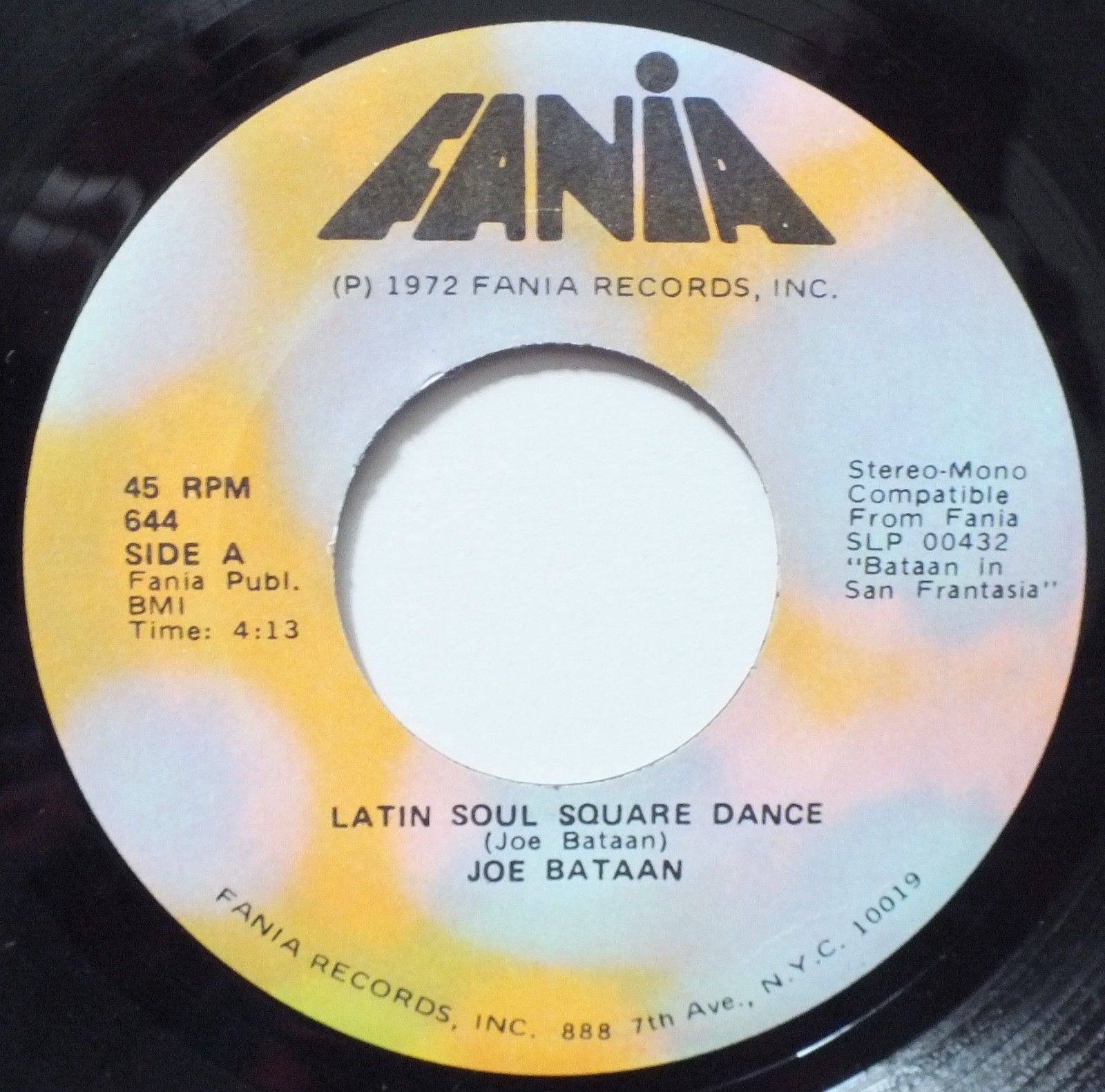 JOE BATAAN LATIN SOUL SQUARE DANCE / CALL ME 45 HEAR RARE FUNK NORTHERN