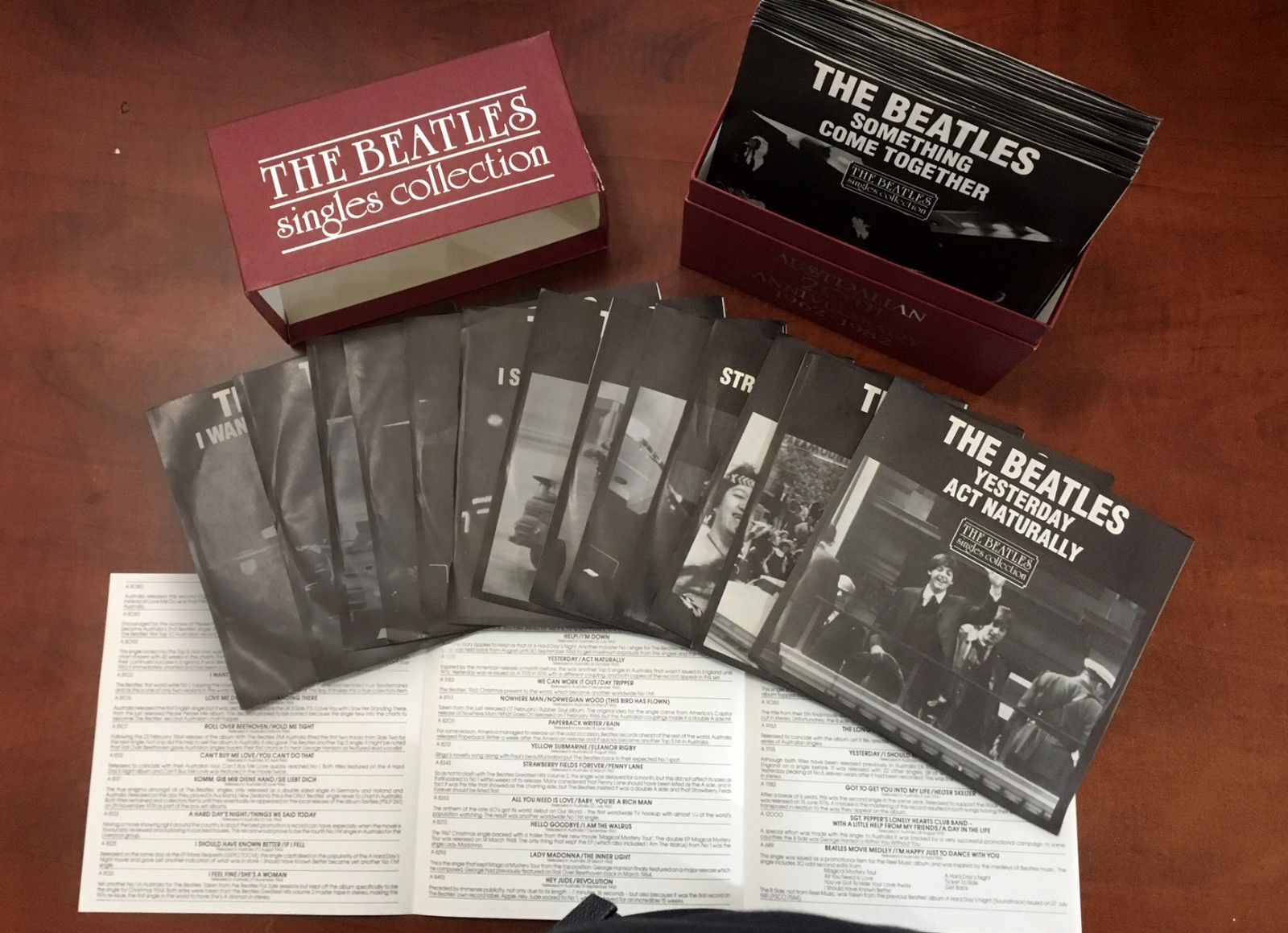 "The Beatles Single Collection Australian 20th Anniversary 1962-1982"" 45 Box Set"