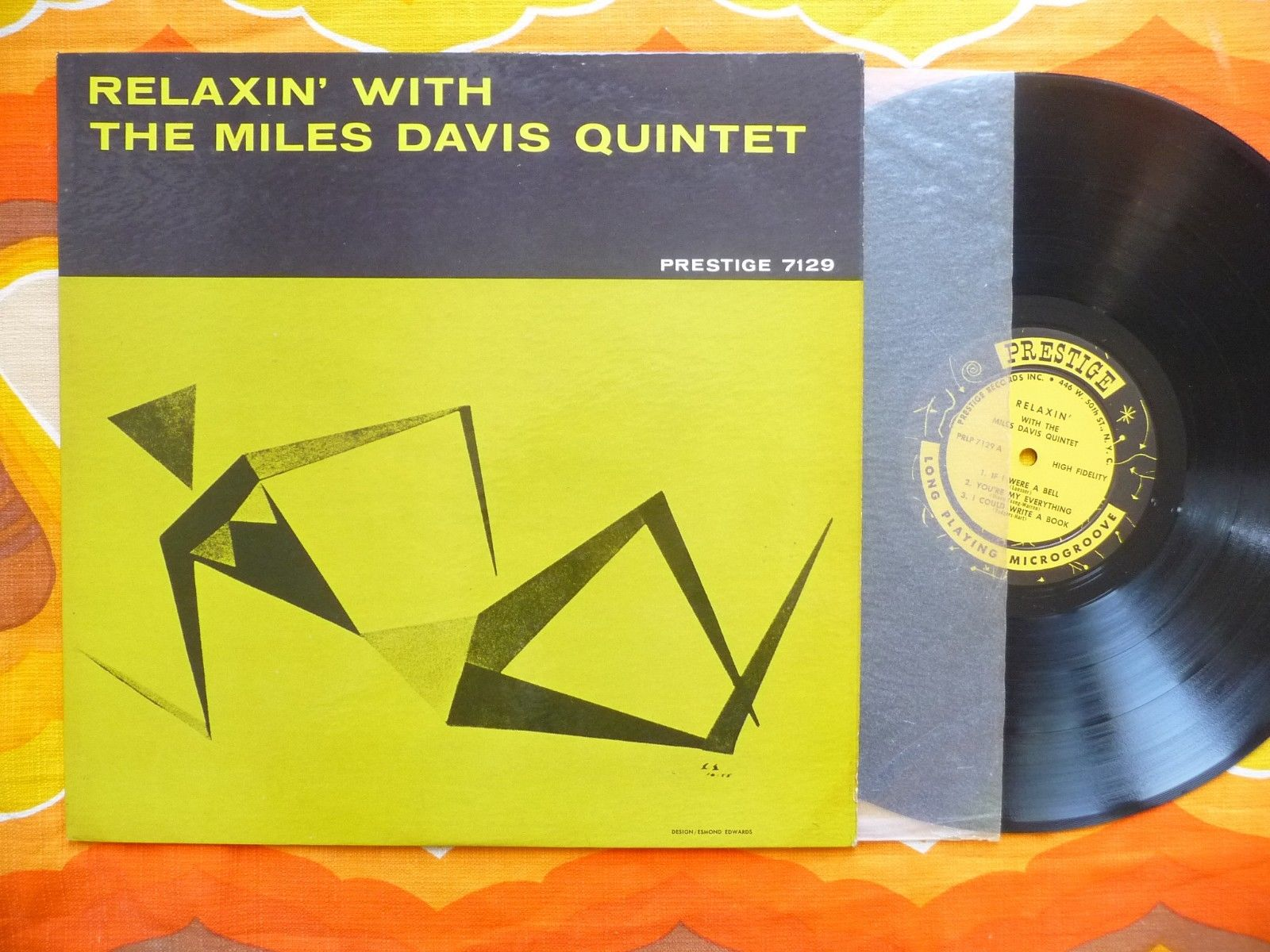 RELAXIN WITH THE MILES DAVIS QUINTET ORIGINAL 1ST PRESS PRESTIGE 7129 NEW YORK