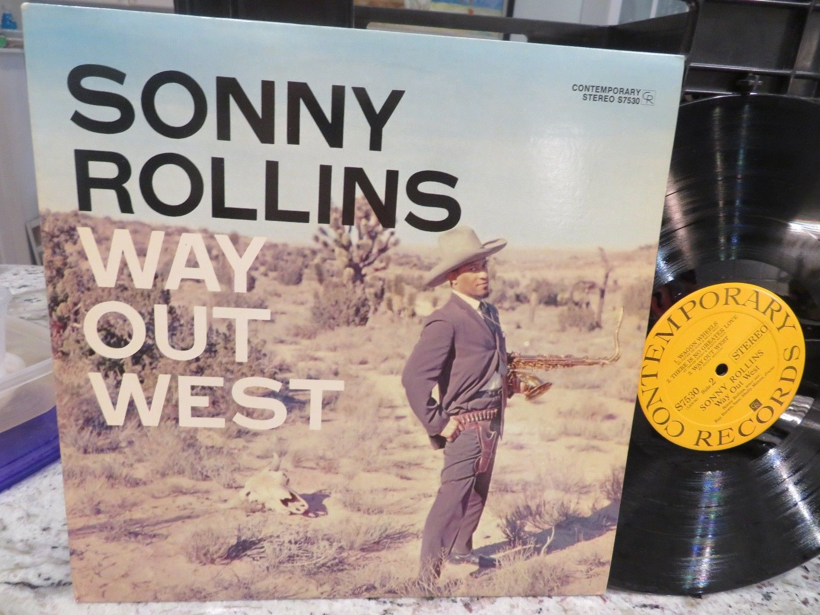 RARE SONNY ROLLINS Way Out West S7530 CONTEMPORARY 90069 ZIP CODE USA N MINT LP