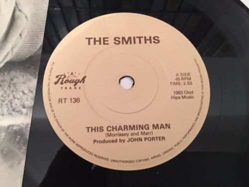 "The Smiths - This Charming Man 1st Withdrawn Pressing Rare  7"" Morrissey"