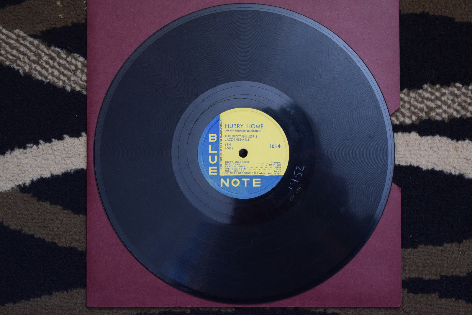 78rpm Jazz; Dizzy Gillespie Blue Note 1618 Afro Paris / Hurry Home