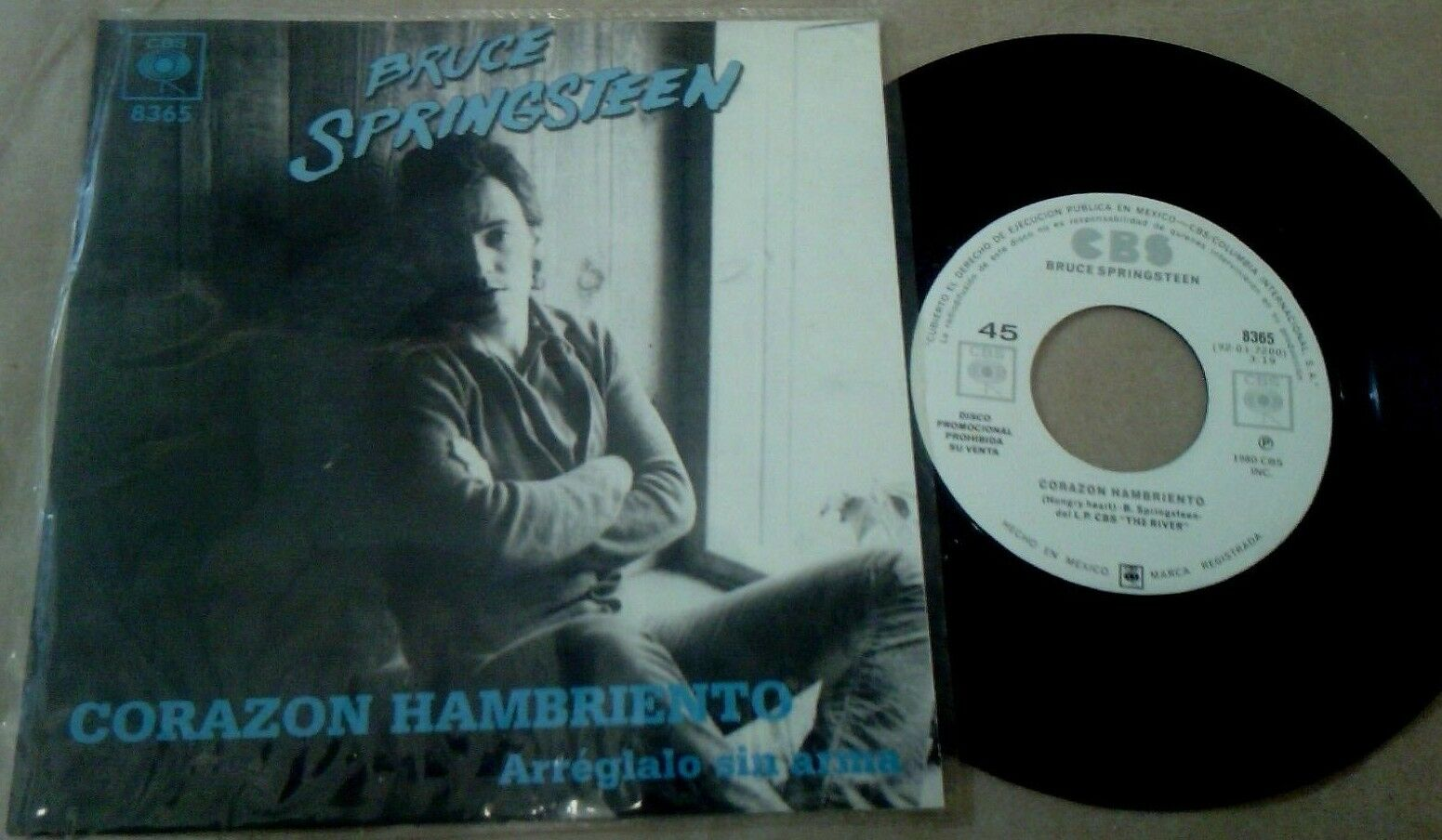 """Bruce Springsteen-Hungry Heart-7""""Mexico Promo  PS CBS"""