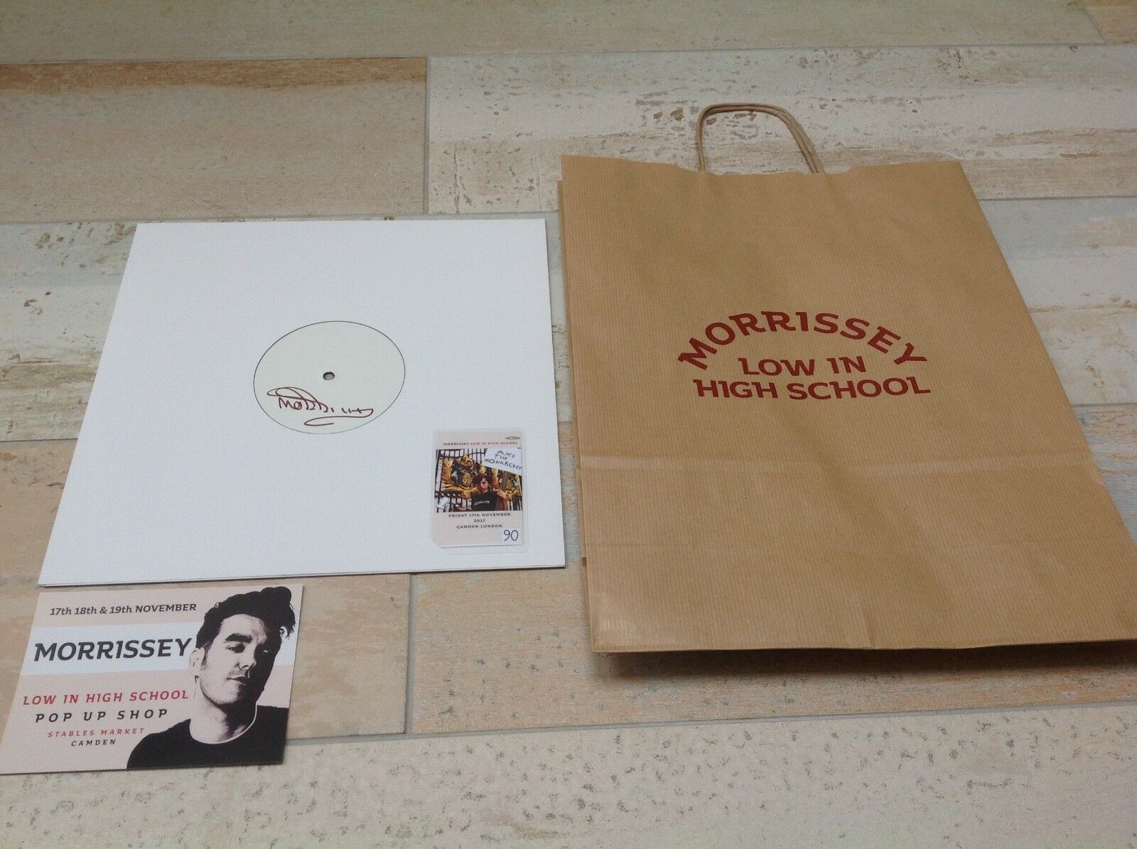 MORRISSEY - LOW IN HIGH SCHOOL -  TEST PRESSING VINYL LP SIGNED  new  THE SMITHS