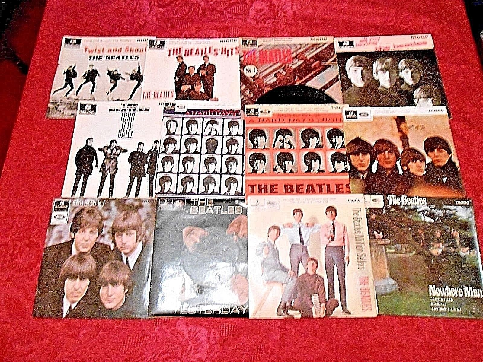 THE BEATLES: ALL 12 SINGLE VINYL EP'S. 1963-1966. GREAT COLLECTION