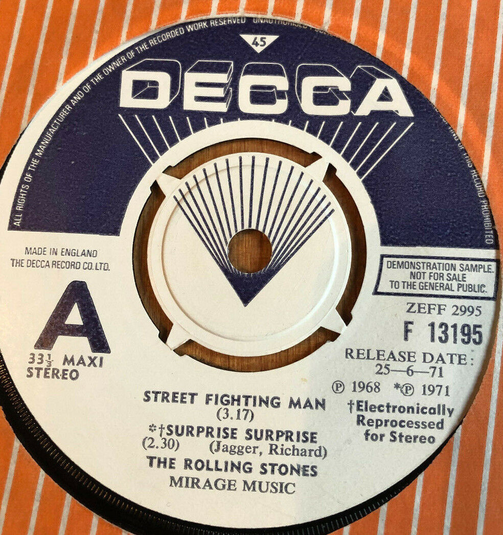 The Rolling Stones ?– Street Fighting Man / Surprise Surprise Rare Promo EP