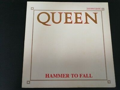 "12"" Vinyl maxi Queen Hammer to fall (Spain) White sleeve"