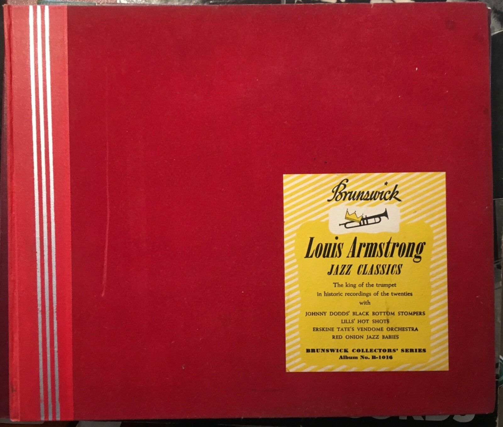 Louis Armstrong – 78rpm Album Set – Brunswick Jazz Classics Cover FN Records Exc