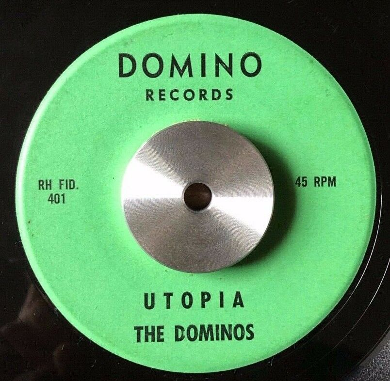 RARE SURF Guitar INSTRUMENTAL Rocker THE DOMINOS Utopia DOMINO 45 Hear