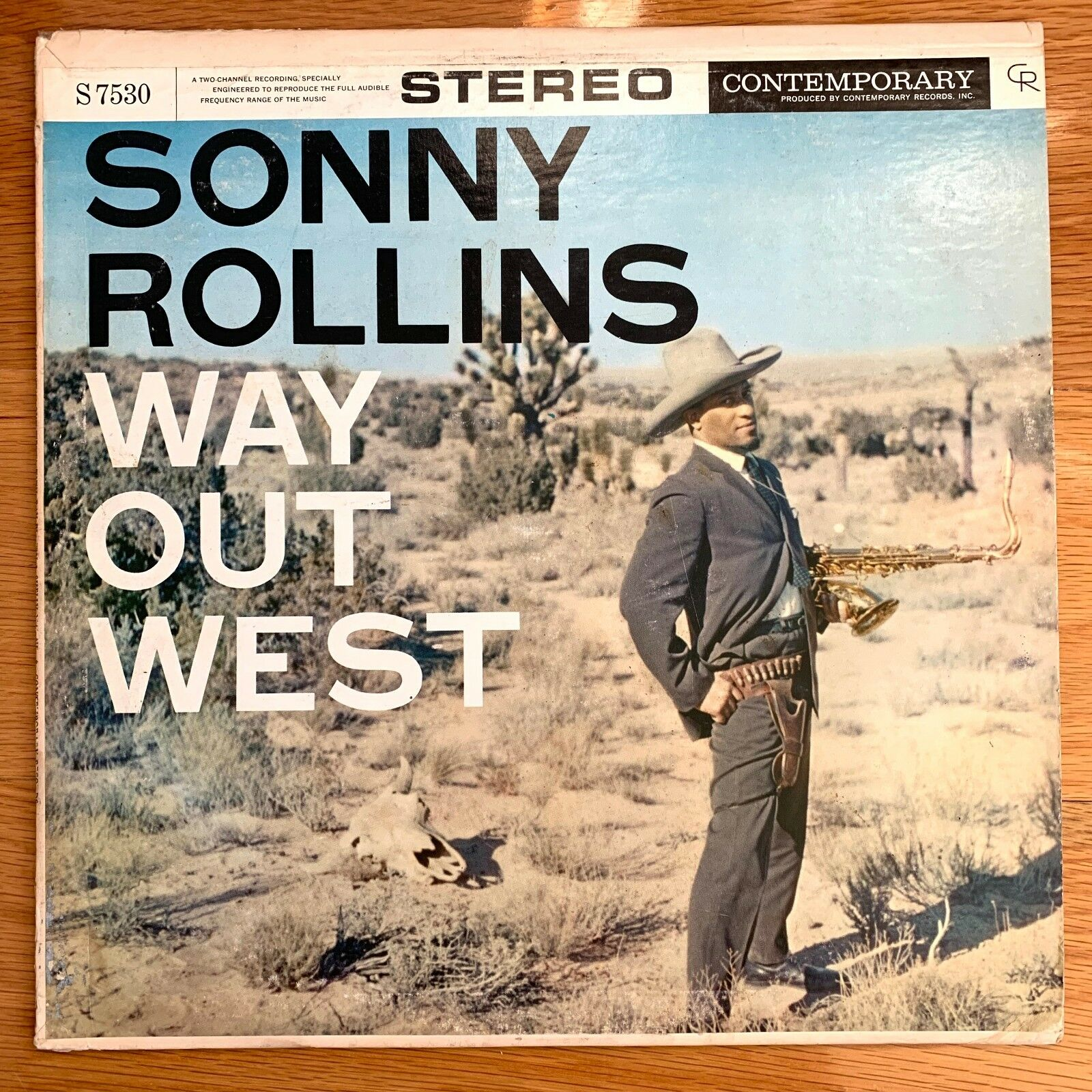 SONNY ROLLINS Way Out West Contemporary LP Stereo S7530 DG VG+