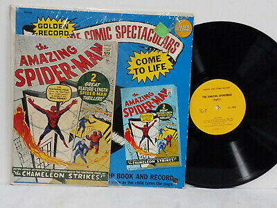 1966 MARVEL AGE COMIC GOLDEN RECORDS The Amazing Spiderman w/ Book EX SHRINK