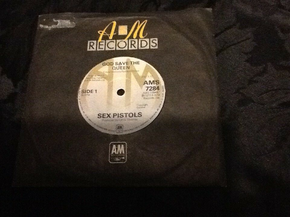 "Sex Pistols - Original 1977 A&M ""God Save The Queen"" Single 45RPM"