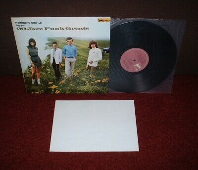 THROBBING GRISTLE 20 Jazz Funk Greats LP 1979 INDUSTRIAL 1st + POSTER  MINT