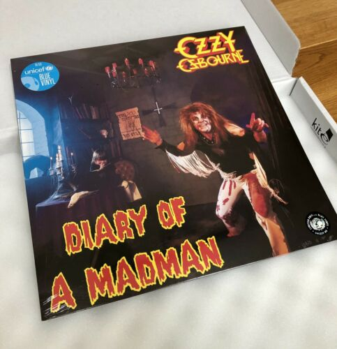 OZZY OSBOURNE DIARY OF A MADMAN UNICEF BLUE VINYL NO. 19 of 50  IN HAND. MINT