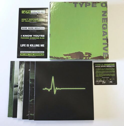 Type O Negative - None More Negative Vinyl LP Record Box Set + Stickers RARE OOP