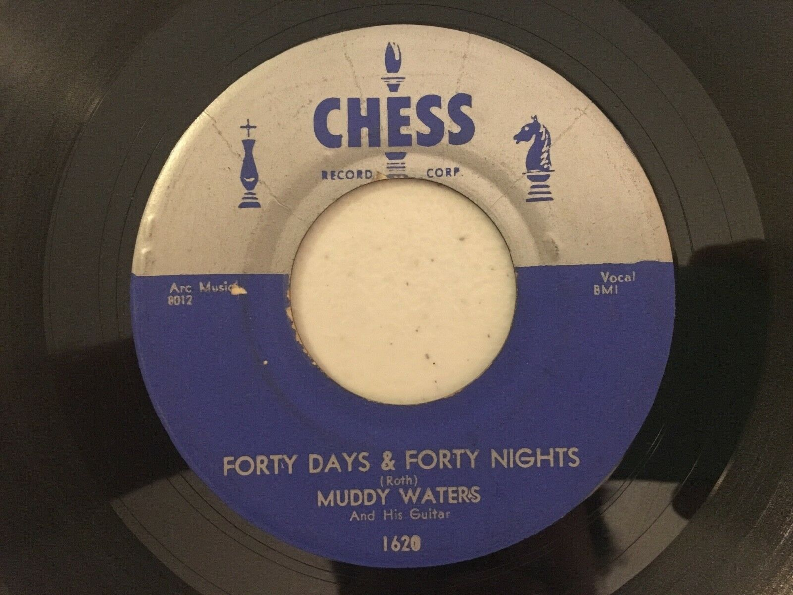 """Muddy Waters Forty Days & Nights / All aboard 45 7"""" Chess High grade EX/M-"""