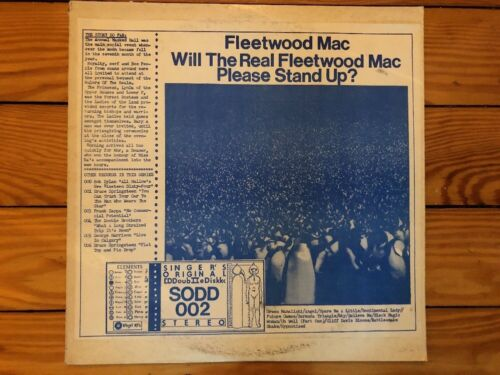 Fleetwood Mac - Will The Real Fleetwood Mac Please Stand Up SODD 002 1974 Vinyl