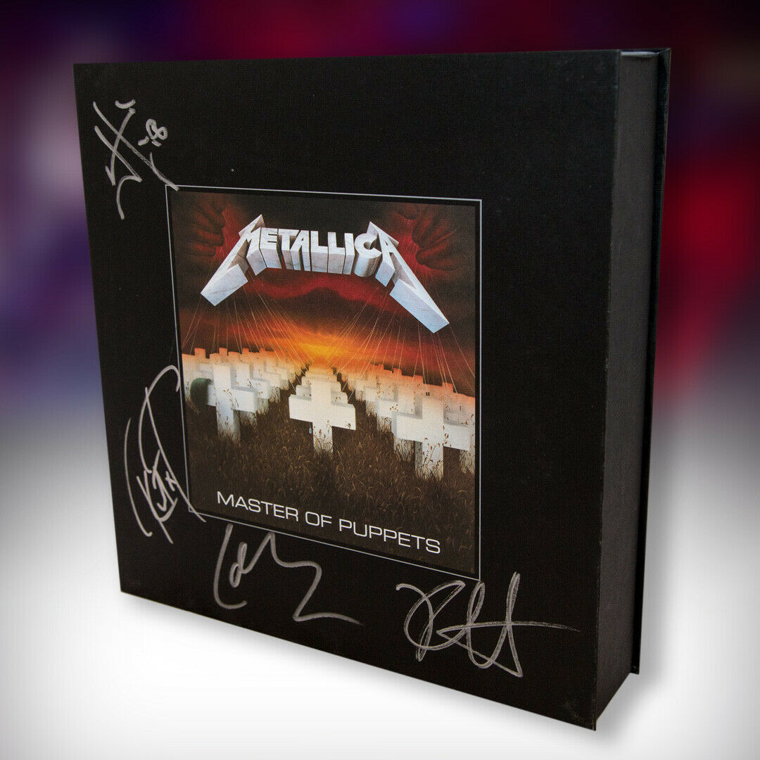 Metallica Autographed Master of Puppets - Remastered Deluxe Box Set