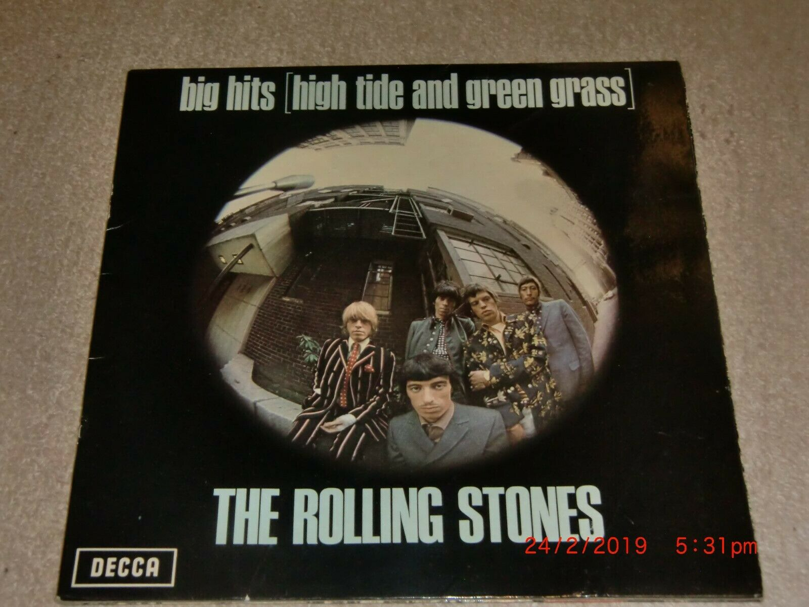 THE ROLLING STONES. BIG HITS. DECCA TXS.101 (GREEN LABEL WITH POSTER).