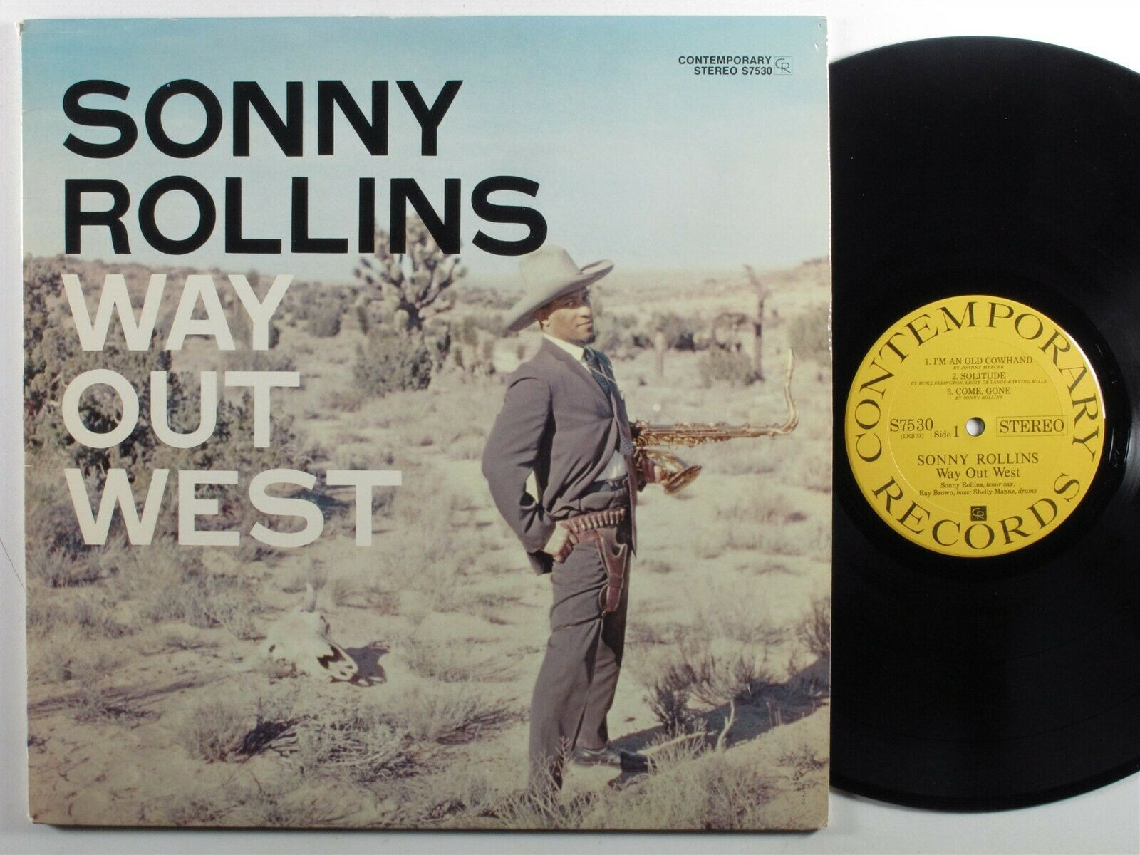 SONNY ROLLINS Way Out West CONTEMPORARY S7530 LP reissue stereo